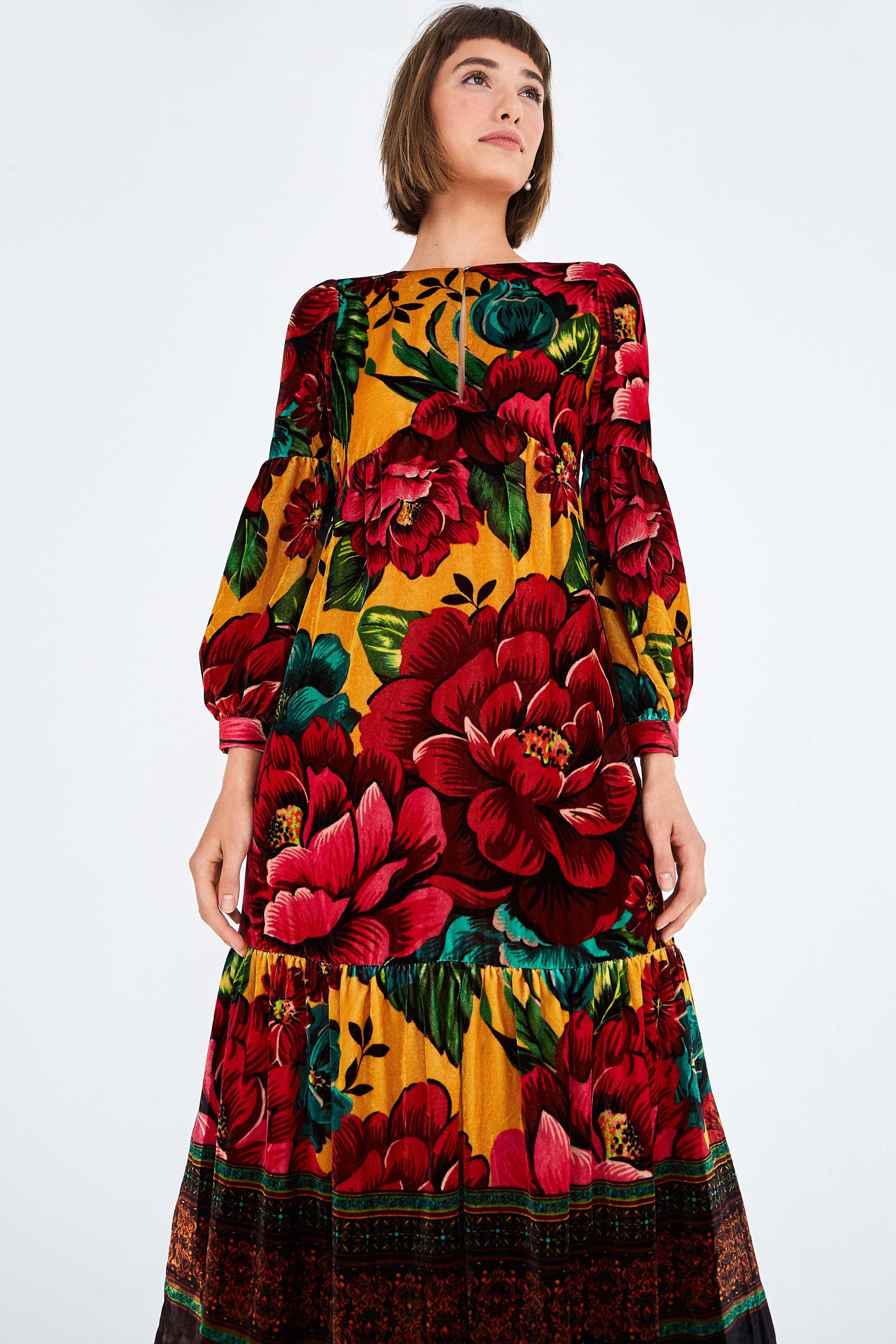 Farm Rio Winter Garden Velvet Maxi Multi M In 2020 Maxi Dress Leopard Maxi Dress Sleeveless Maxi Dress [ 3750 x 2500 Pixel ]