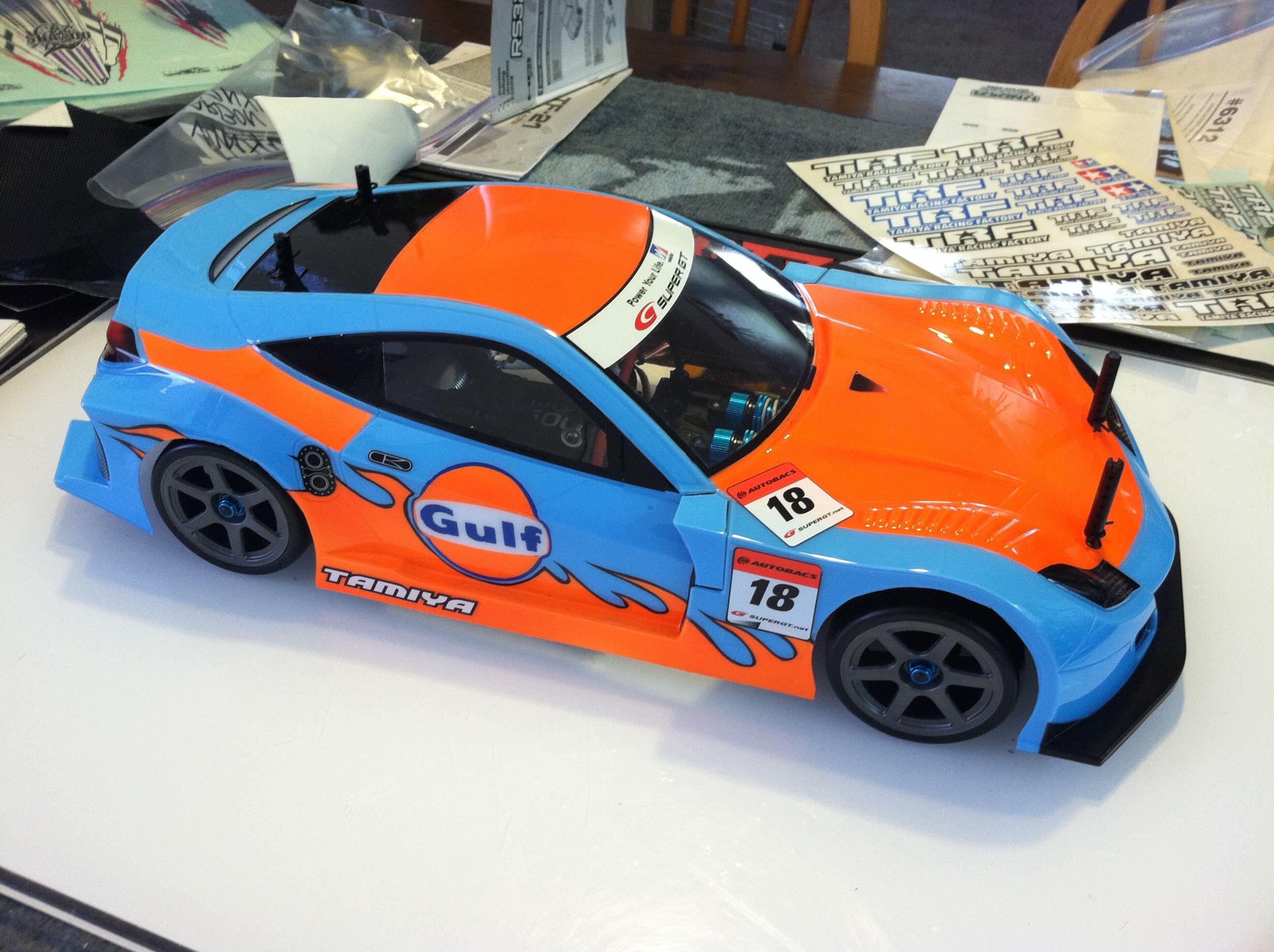 Drag race car paint schemes - Tony Phalen S Tamiya Race Car With Gulf Inspired Paint Scheme