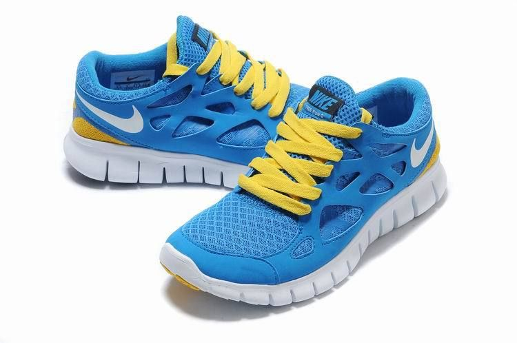 new concept 0f6f3 1a2da Mujer Free Run 2 Zapatillas Cielo Azul Amarillo