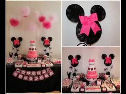 DIY Minnie mouse party decorating ideas Minnie Mickey Mouse