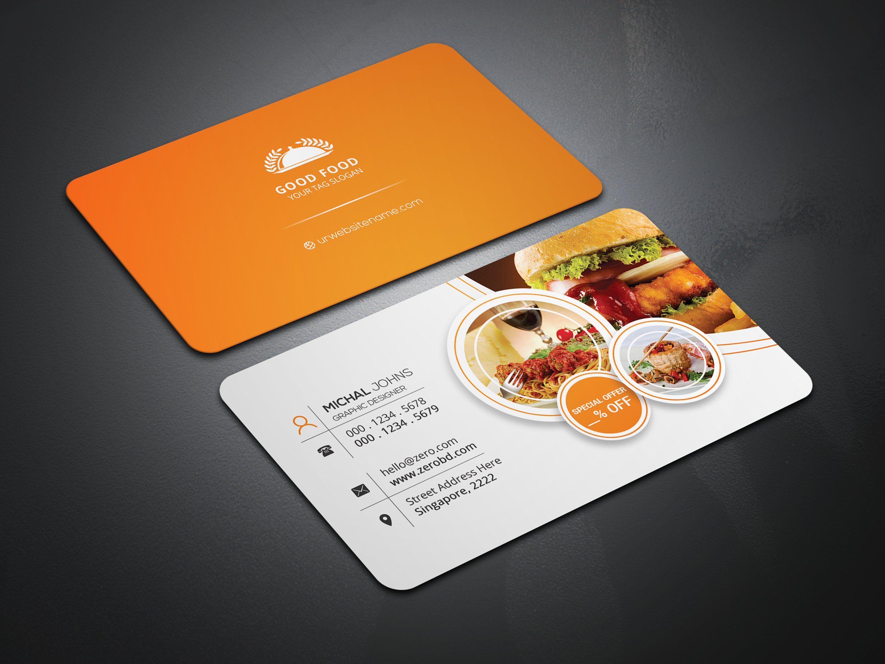 Restaurant Business Cards Food Business Card Restaurant Business Cards Restaurant Card Design