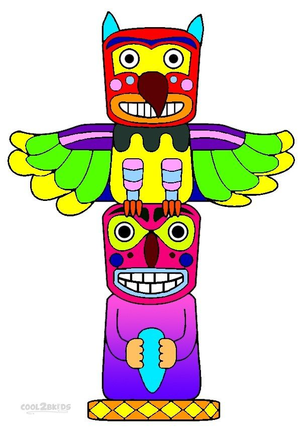 Printable Totem Pole Coloring Pages For Kids | Cool2bKids ...