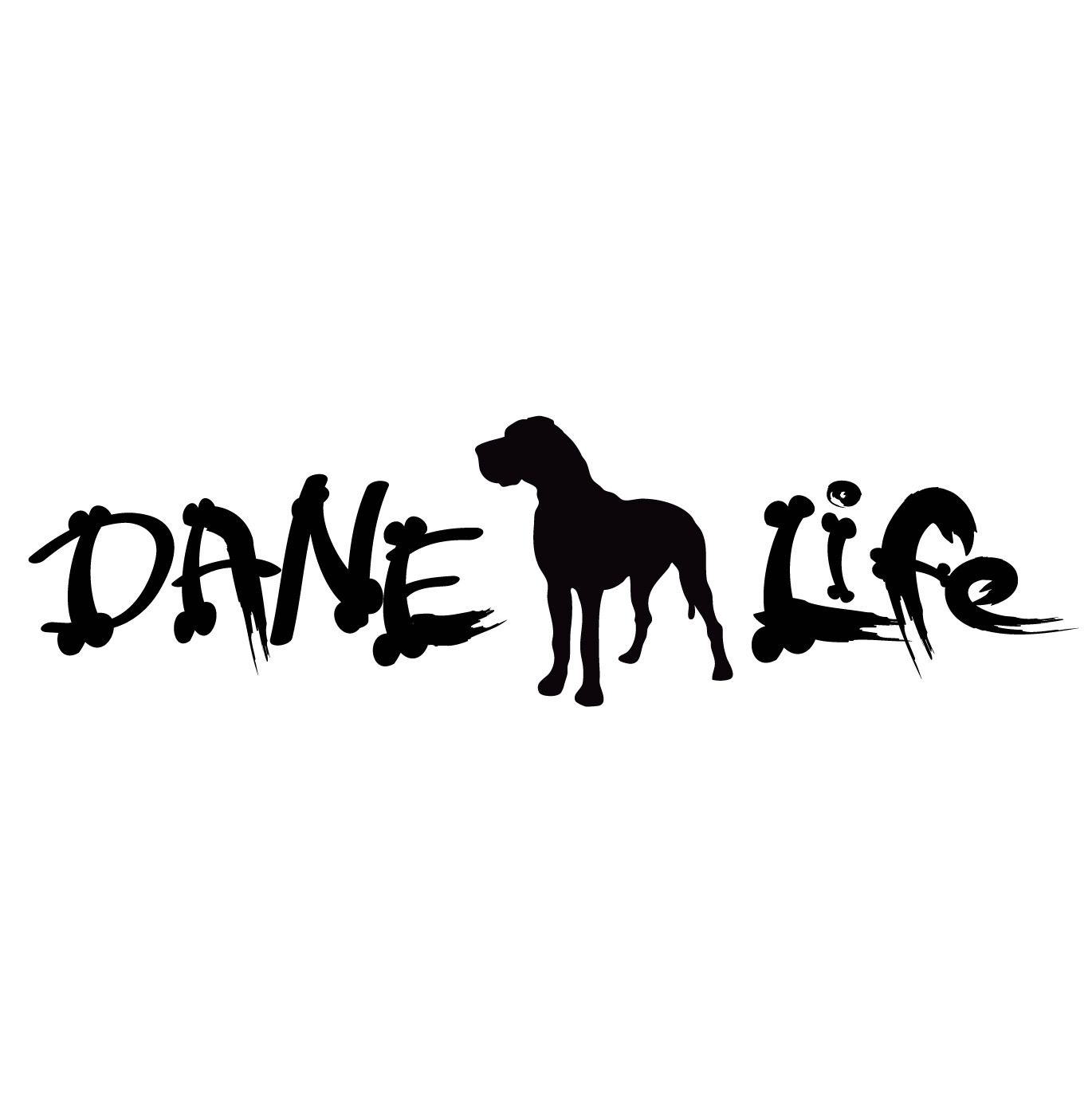 This Vinyl Decal Quot Dane Life Uncropped Quot Is Great For Your