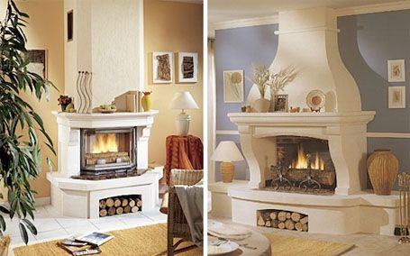 Open Wood Burning Fire With Images Fireplace Design