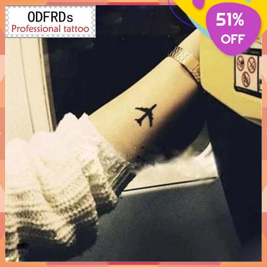 Tatoo Henna TattooStickers Flash Plane TemporaryTattoo