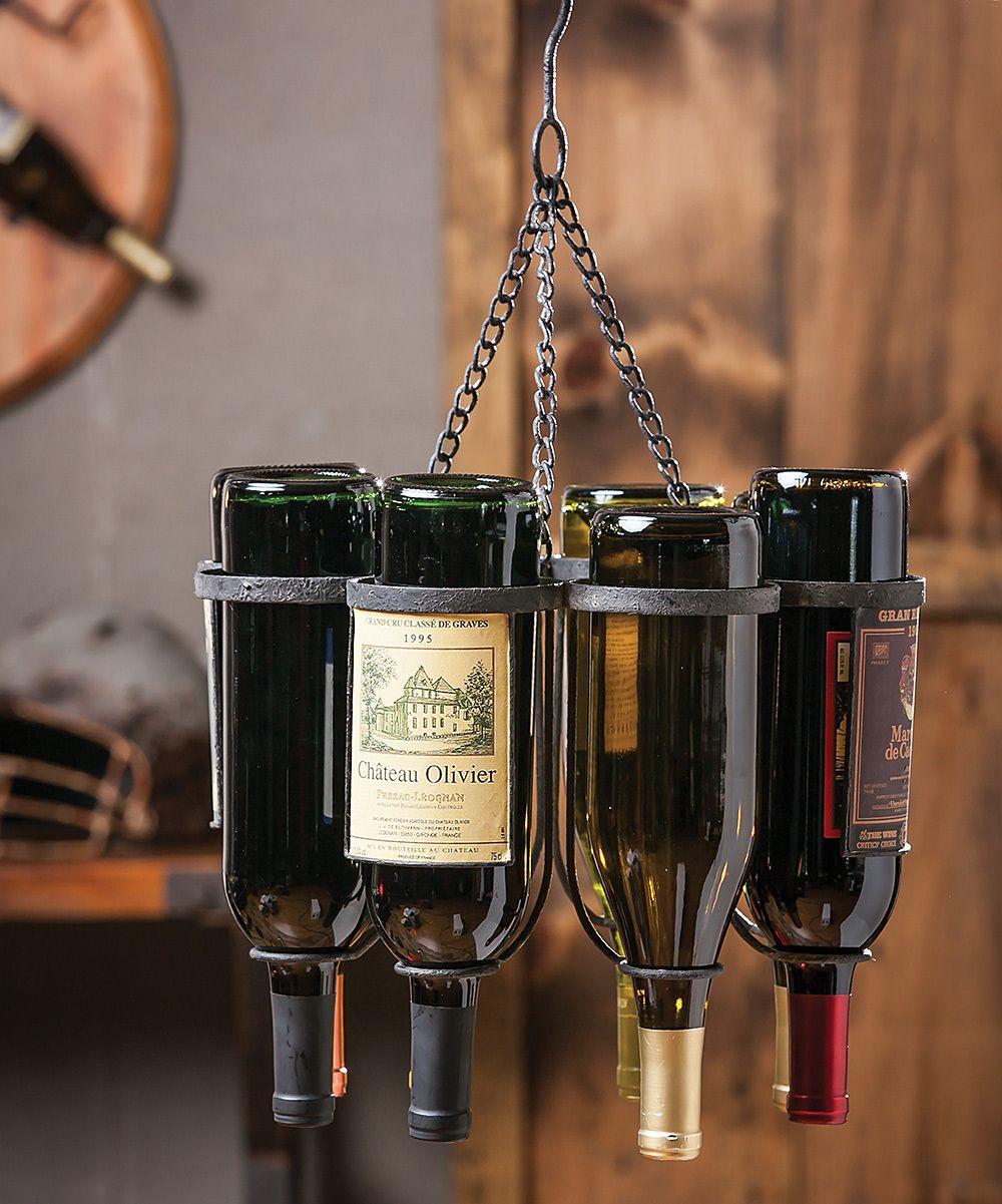 wine bottle hanging wine rack