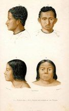 ethnicities bengalese and indians of lake huron french 1861 hand col.engr SOLD