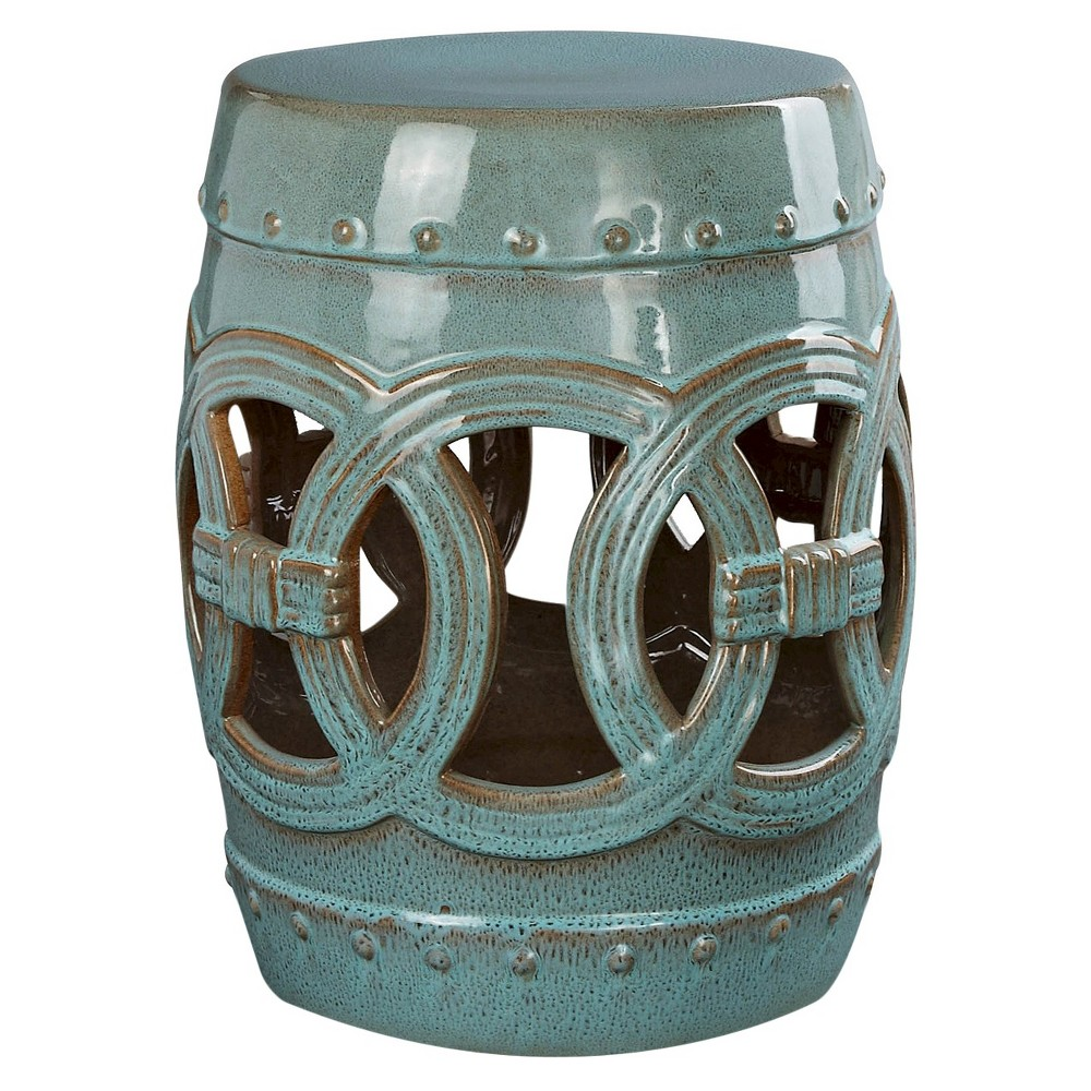 Enjoyable Moroccan Teal Blue Ceramic Garden Stool Abbyson Living Machost Co Dining Chair Design Ideas Machostcouk