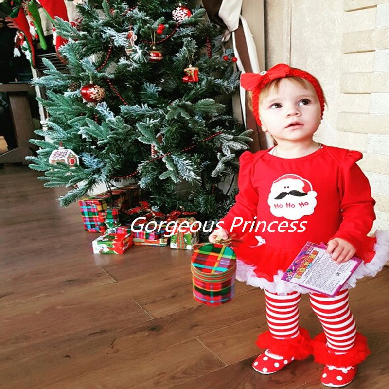 2017 baby girl Christmas outfit photo shoot outfits Birthday Girls