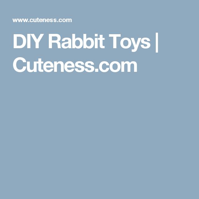 DIY Rabbit Toys   Cuteness.com