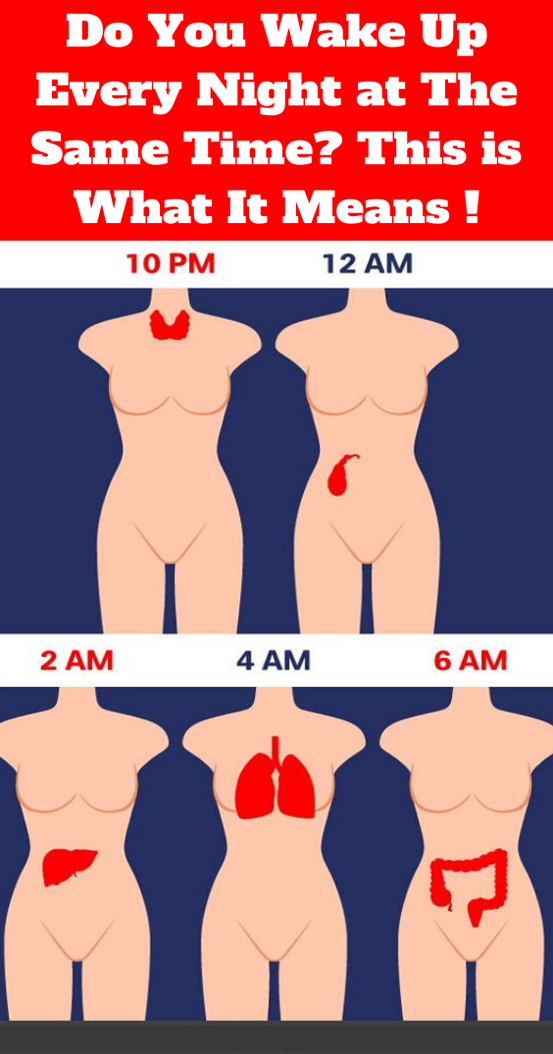 Do You Wake Up Every Night At The Same Time? This Is What It…