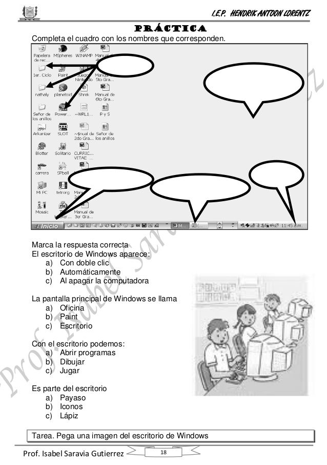 Curso Computación Primero De Primaria Computacion Clases De Computacion Clase De Informática