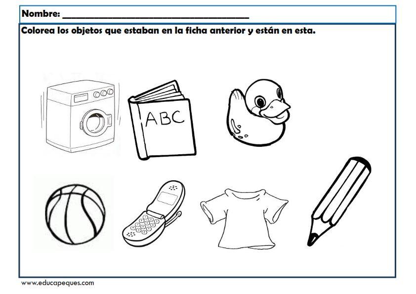 ejercicios de la memoria para niños