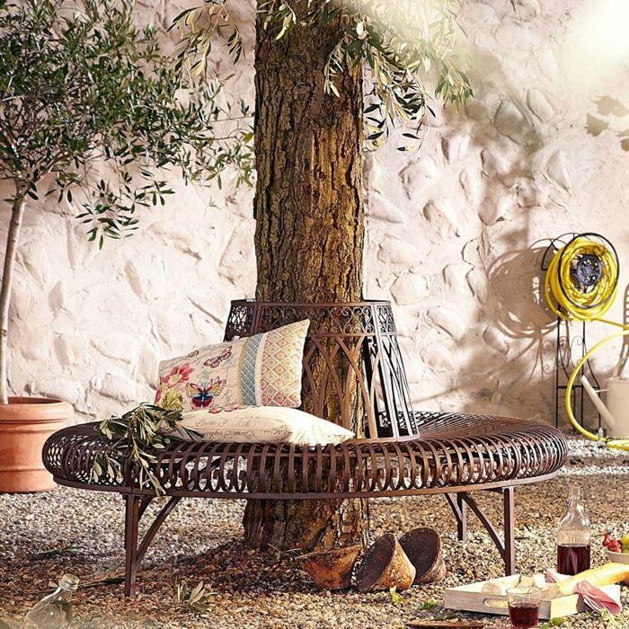 par exemple c\'est un banc de jardin d\'arbre en fer | baumbank ...
