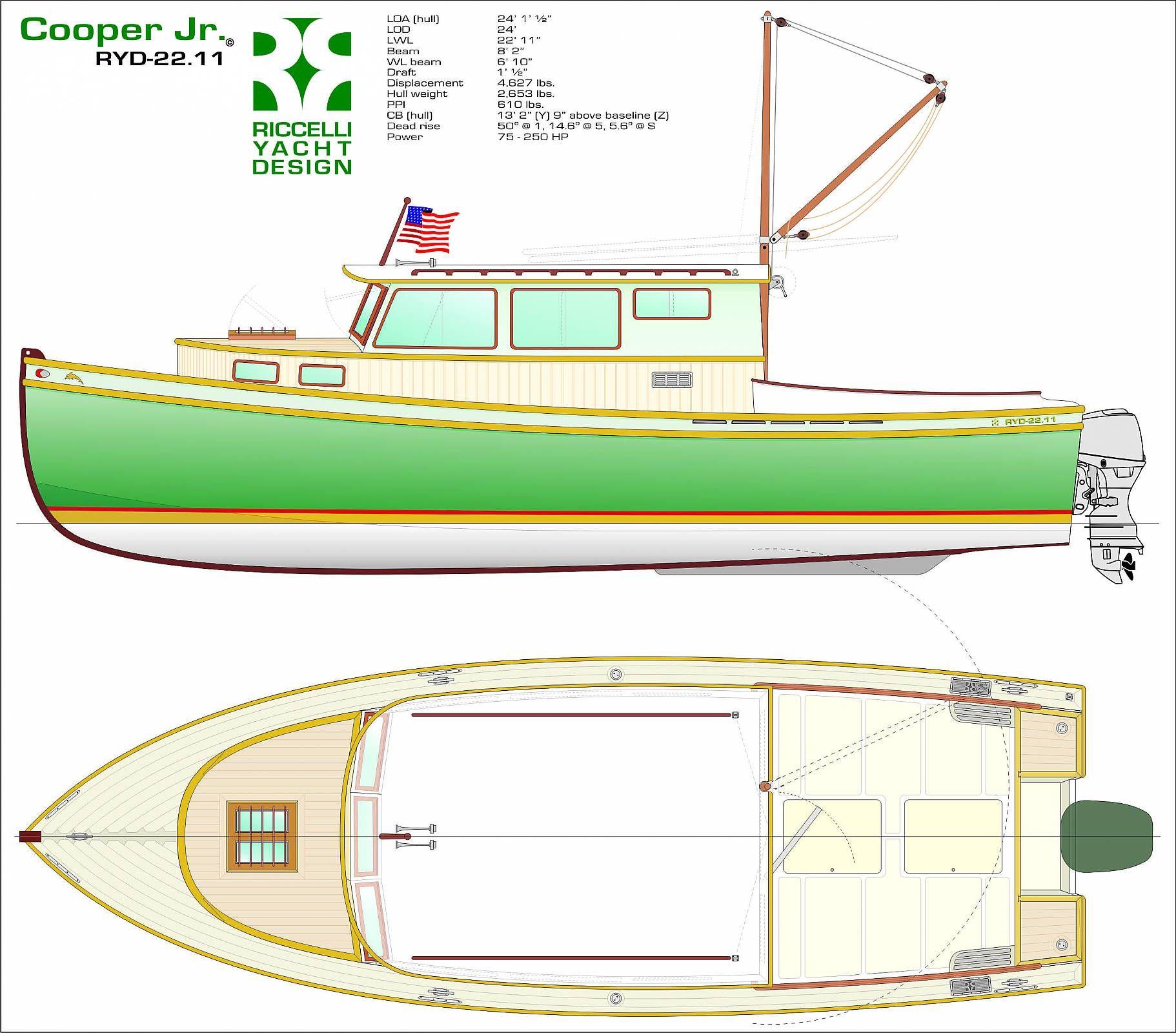 Sport Fishing Boat Plan Wood Boat Hull Boat Wooden Boat Plans
