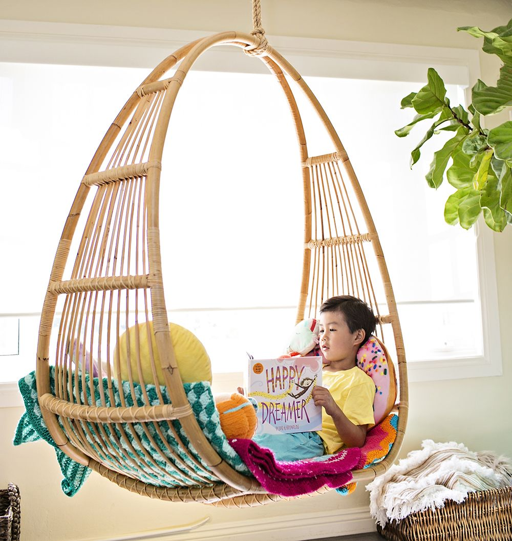 Cozy Reading Nook For Kids Hanging Chair For Kids Home Featuring
