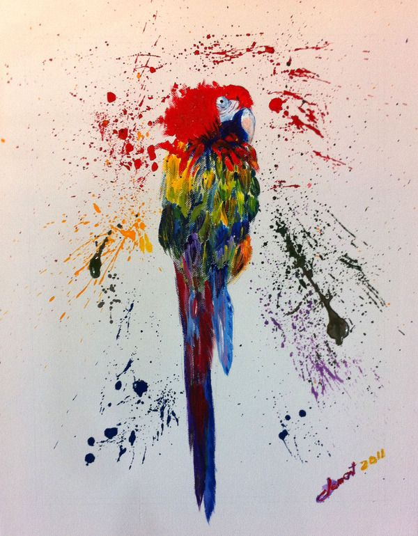 "Saatchi Online Artist: Clement Tsang; Acrylic, 2011, Painting ""Parrot"""