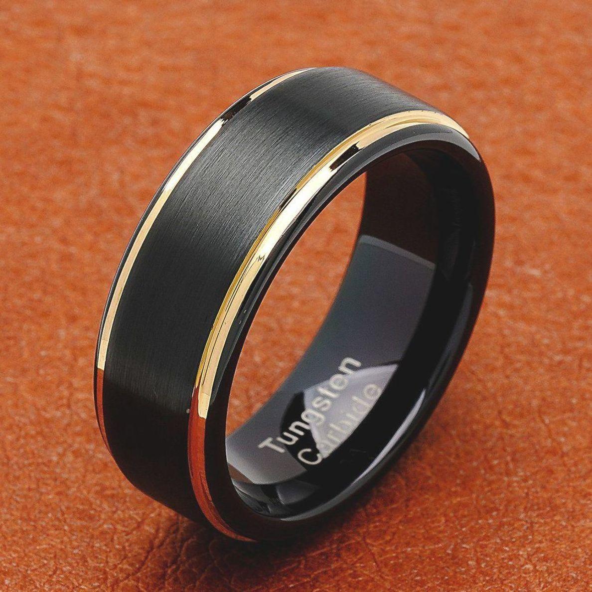 Pin On Black Wedding Rings