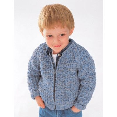 Free Intermediate Child S Sweater Knit Pattern Zip Jacket