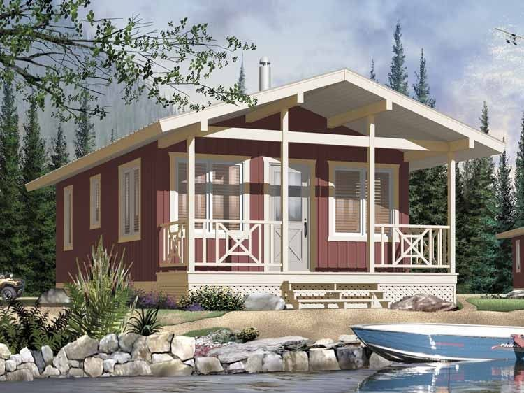 Cottage Style House Plan 2 Beds 1 Baths 540 Sq Ft Plan 23 2291 Cottage Style House Plans Bungalow House Plans Vacation House Plans