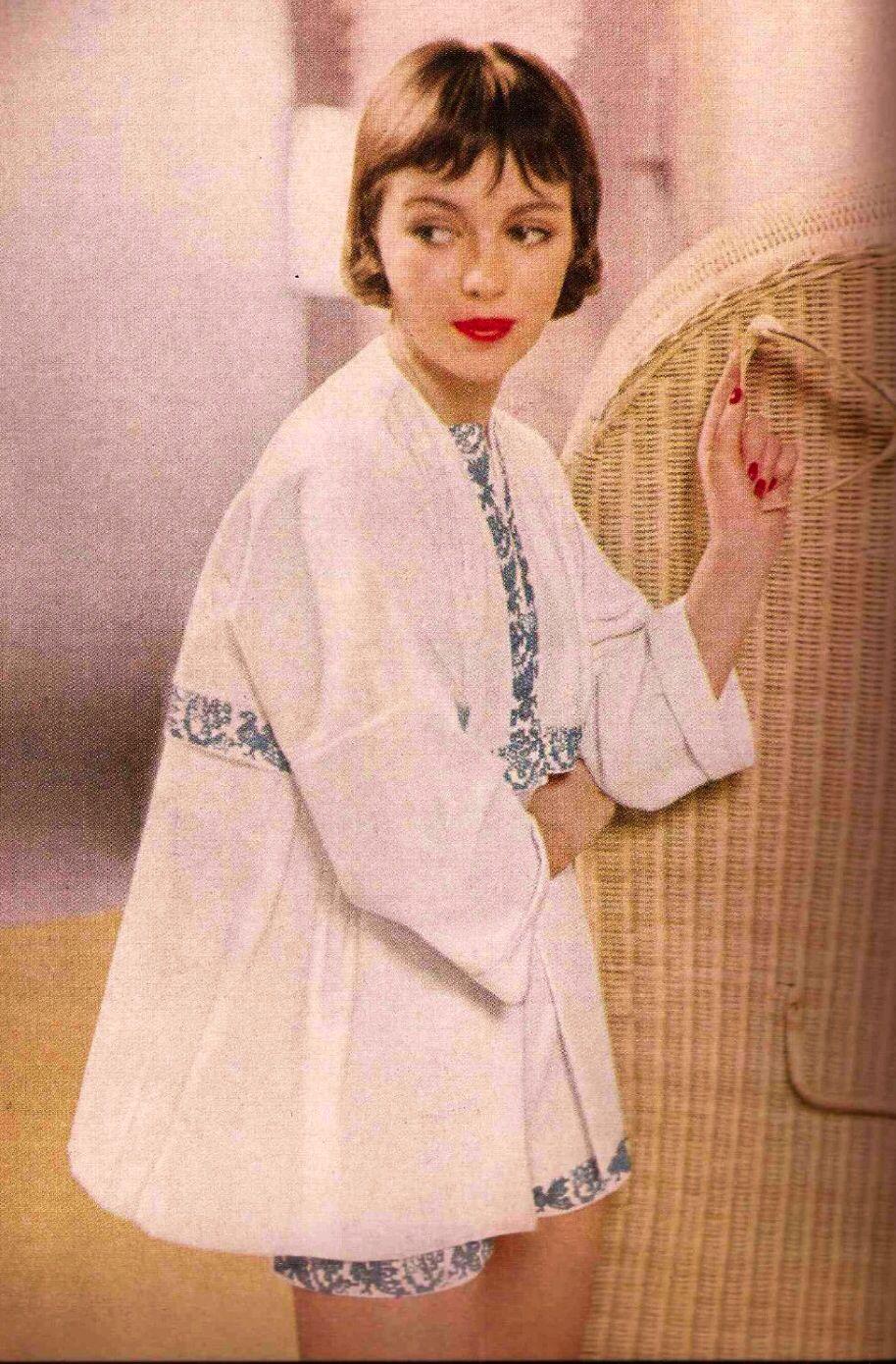 Harper's Bazaar, May, 1955, beach wear
