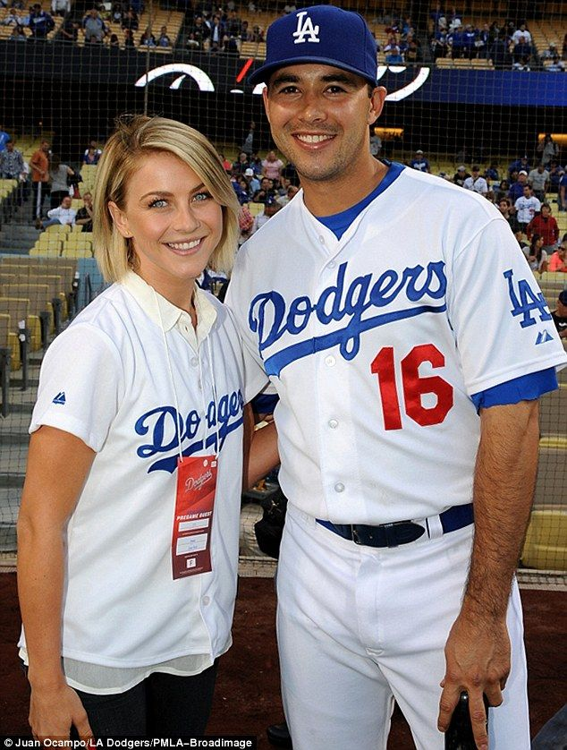 She's popular: The newly single star was also accosted by Andre Ethier so they could have a picture taken