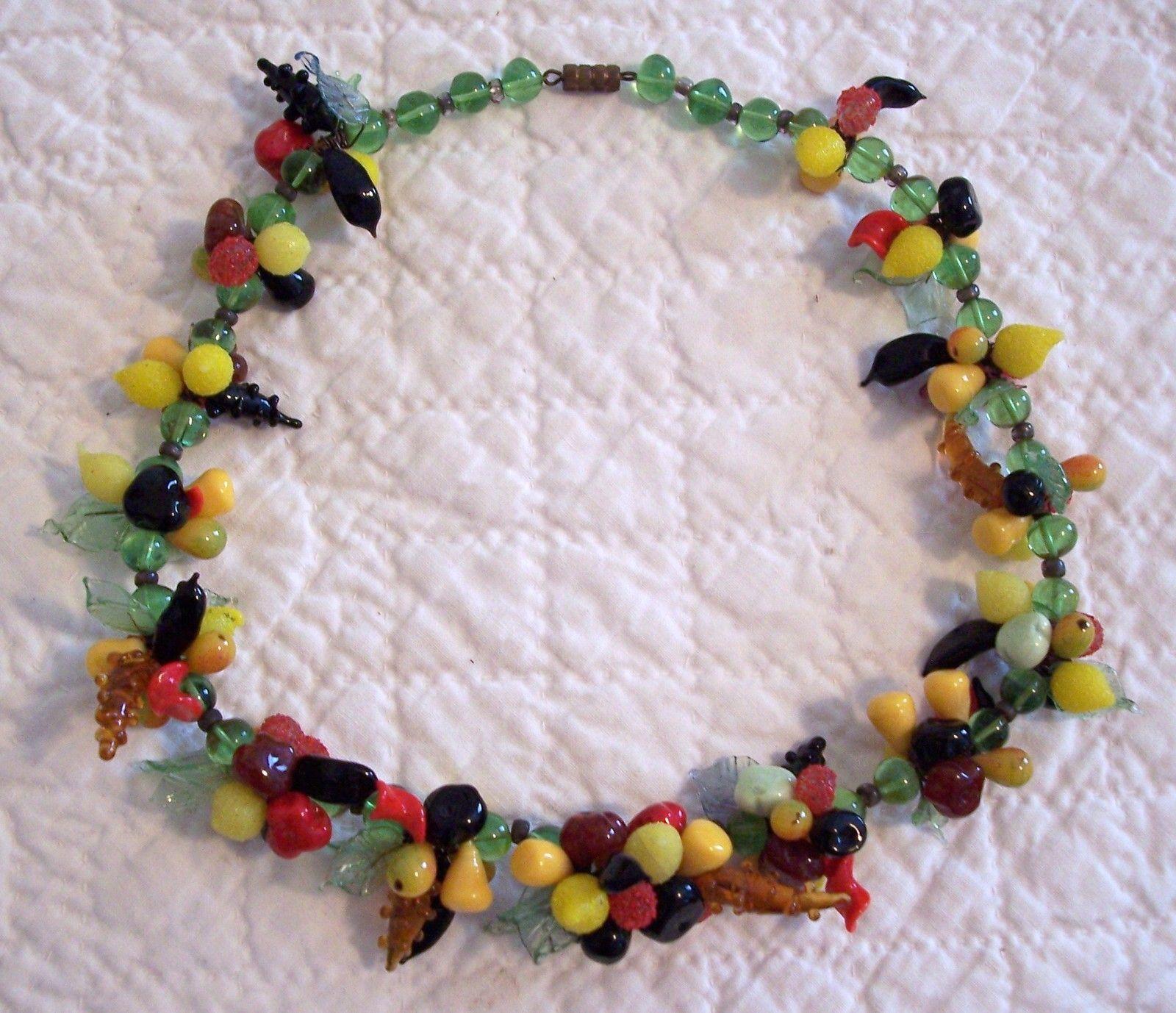 Vintage Fruit Bowl Necklace