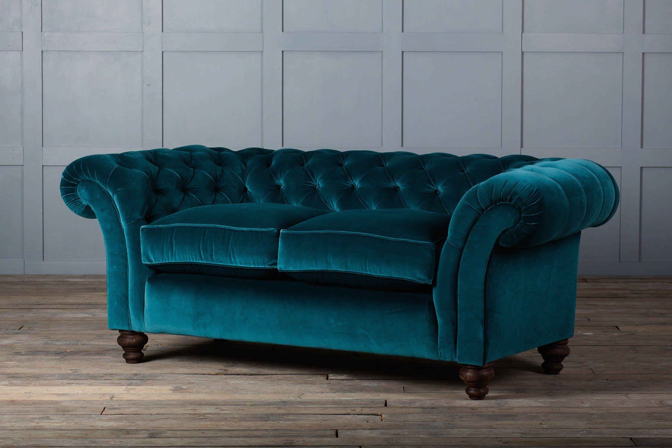 Blue Velvet Chesterfield Sofa Green Leather Uk Teal Bed