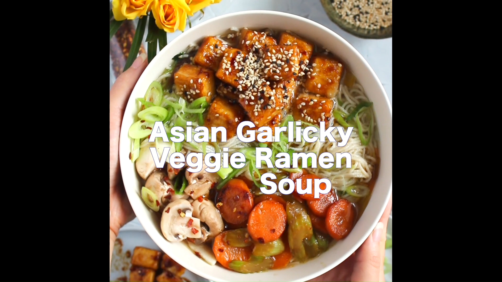 "Our #glutenfree, #vegan ""Garlicky Veggie"" flavor Rice Ramen Noodle Soup Cups contain freeze-dried soup cubes packed with big pieces of veggies and gourmet spices delivering a whole new ramen soup experience! Ready in just 3 minutes, enjoy them as they are or add your own favorite toppings! 📹 @jazzminkaita #lotusfoods #ramensoupcup #veganramen #glutenfreenoodles #nongmofoods #ramensoup #cupnoodles #wholegrain #noodlerecipe"