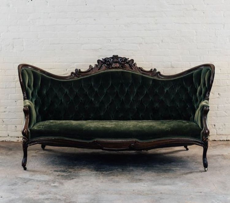 Victorian Green Velvet Couch Victorian Couch Velvet Couch Living Room Victorian Sofa