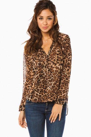 Rodan Leopard Blouse