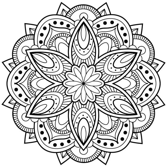Fabuleux ▷ 1001+ dessins de mandala à imprimer et à colorer | Stress  JO39