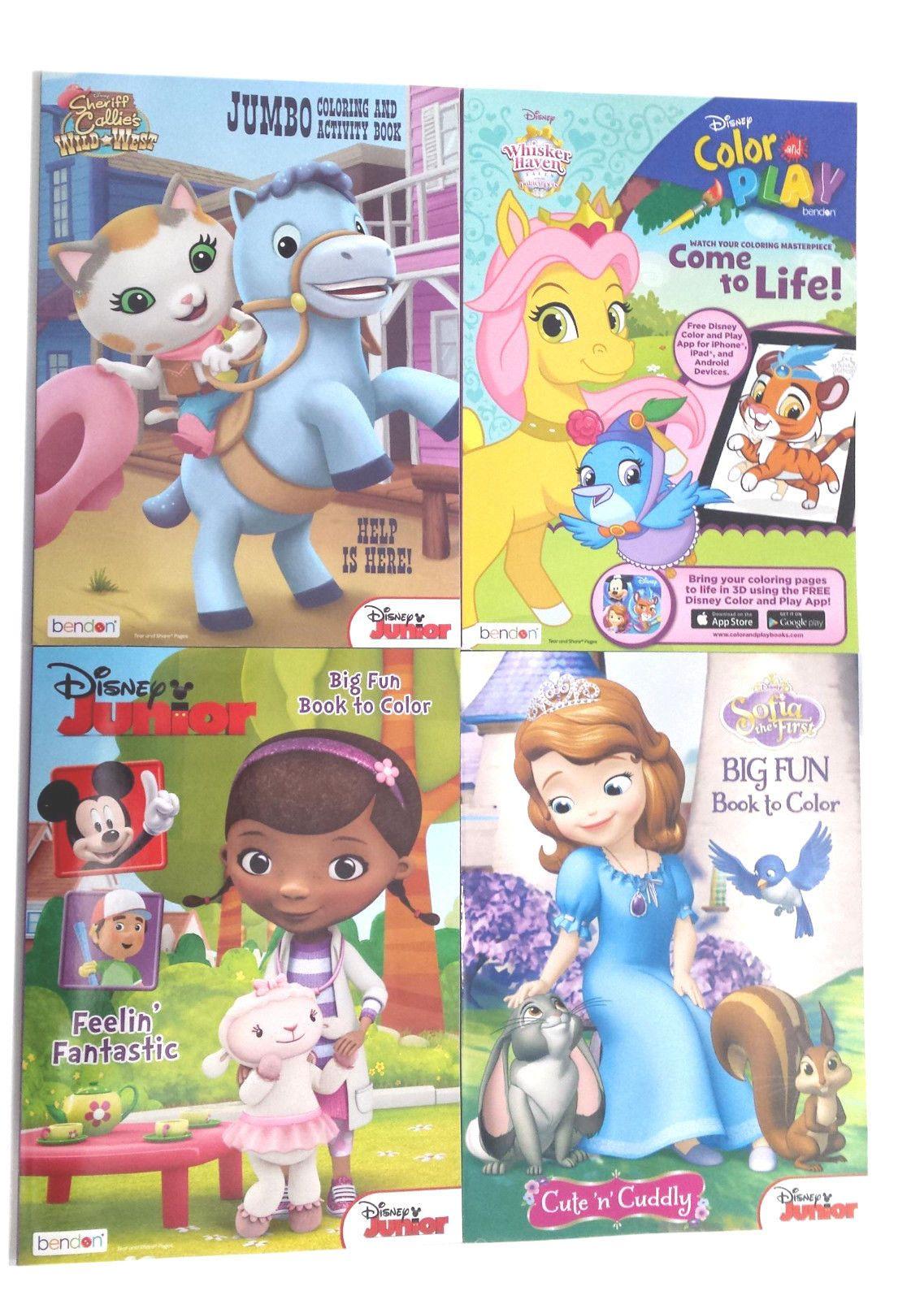 Craft Books 134568 Disney Junior Girls Coloring Book And Jumbo Kids Activity Books Set Of 4 New Buy It N Kids Activity Books Book Activities Coloring Books