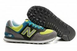 zapatillas new balance gris y amarillo