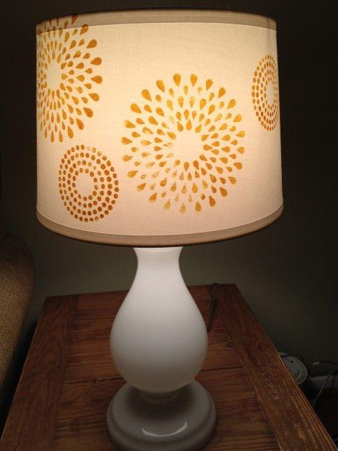 Diy Stenciled Lampshade Lamp Shades Diy Lamp Shade Lamp