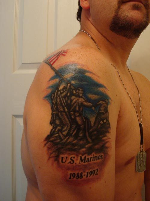 Iwo jima flag raising tattoo images for Iwo jima tattoo