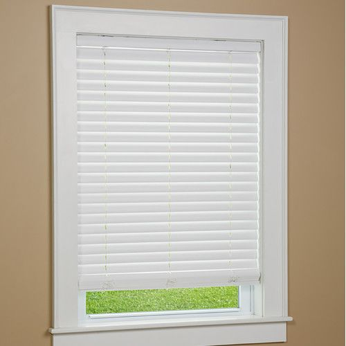 Green Mountain Vista One Touch 2 Cordless Faux Wood Blind Faux Wood Window Blinds Blinds For Windows Faux Wood Blinds