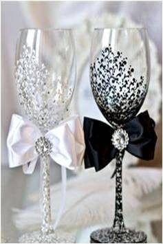 Copas decoradas a mano para bodas 15 a os vaeiedades for Copas decoradas a mano