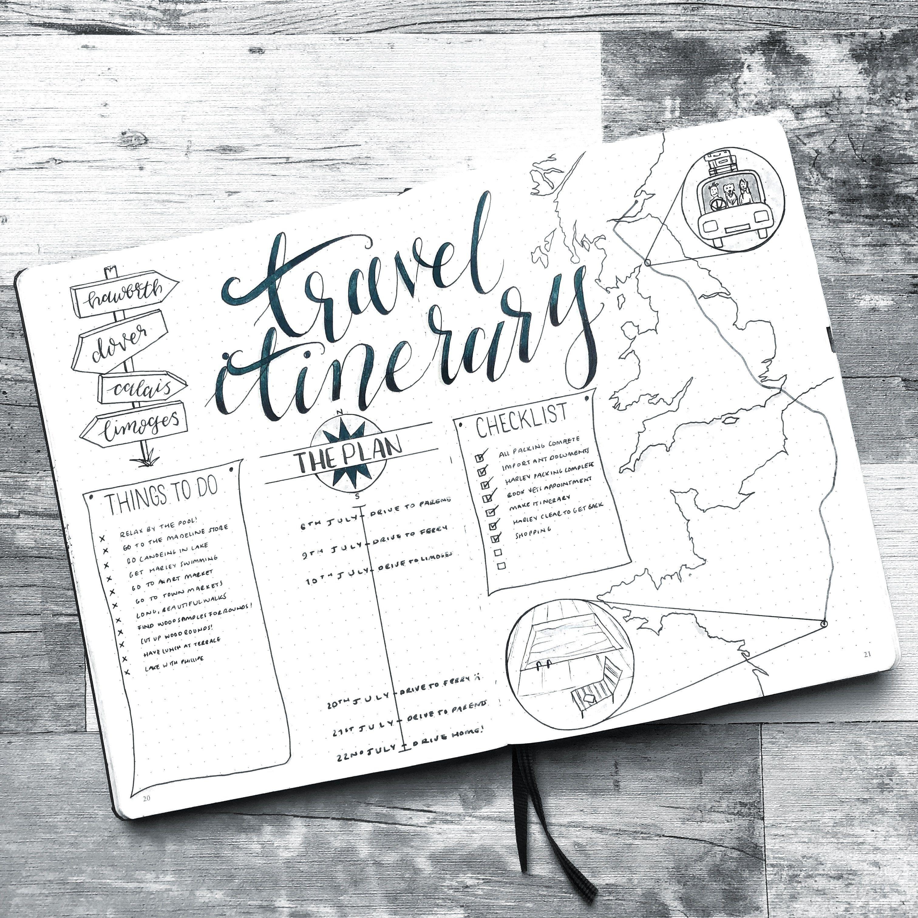 ¿Ir de vacaciones? ¡Aquí está cómo documentar y planificar sus aventuras en su Bullet Journal!