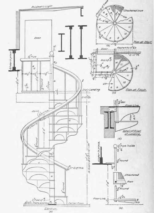 Spiral Staircase Plan Drawing Stairs Pinned By