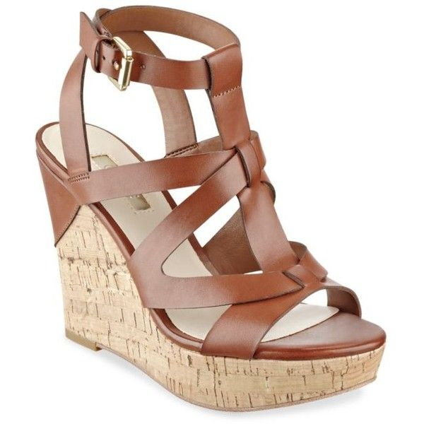 701694b6c7c Guess Brown Harlea Cork Wedge Sandal - Women's ($79) ❤ liked on Polyvore  featuring shoes, sandals, brown, guess footwear, cork wedge shoes, guess  shoes, ...