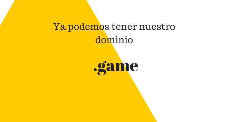 """#Ocio #dominios #juegos Ya está disponible la extensión """".game"""" para registrar dominios en todo el mundo"""
