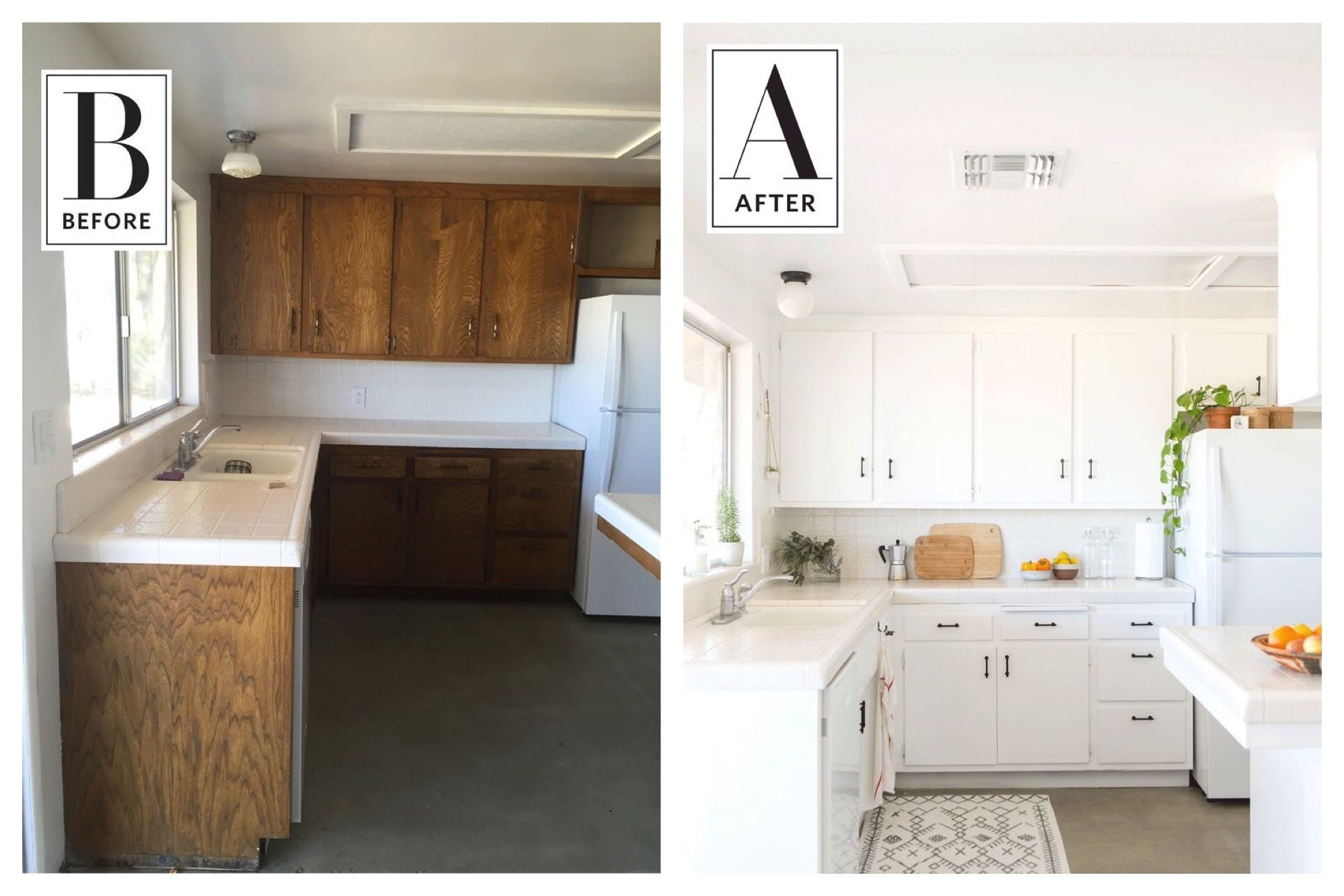 Before and After A Vintage Kitchen in the Desert Gets a Bright Face