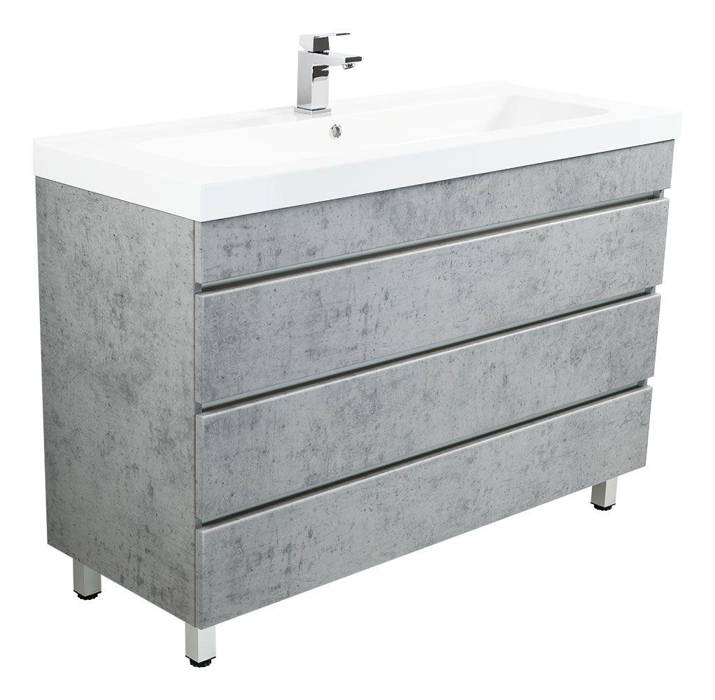 Meuble salle de bain Talis 20 Aspect Béton à poser avec tiroirs
