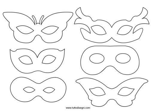 Maschere carnevale disegni carnevale da colorare for Immagini maschere carnevale da colorare