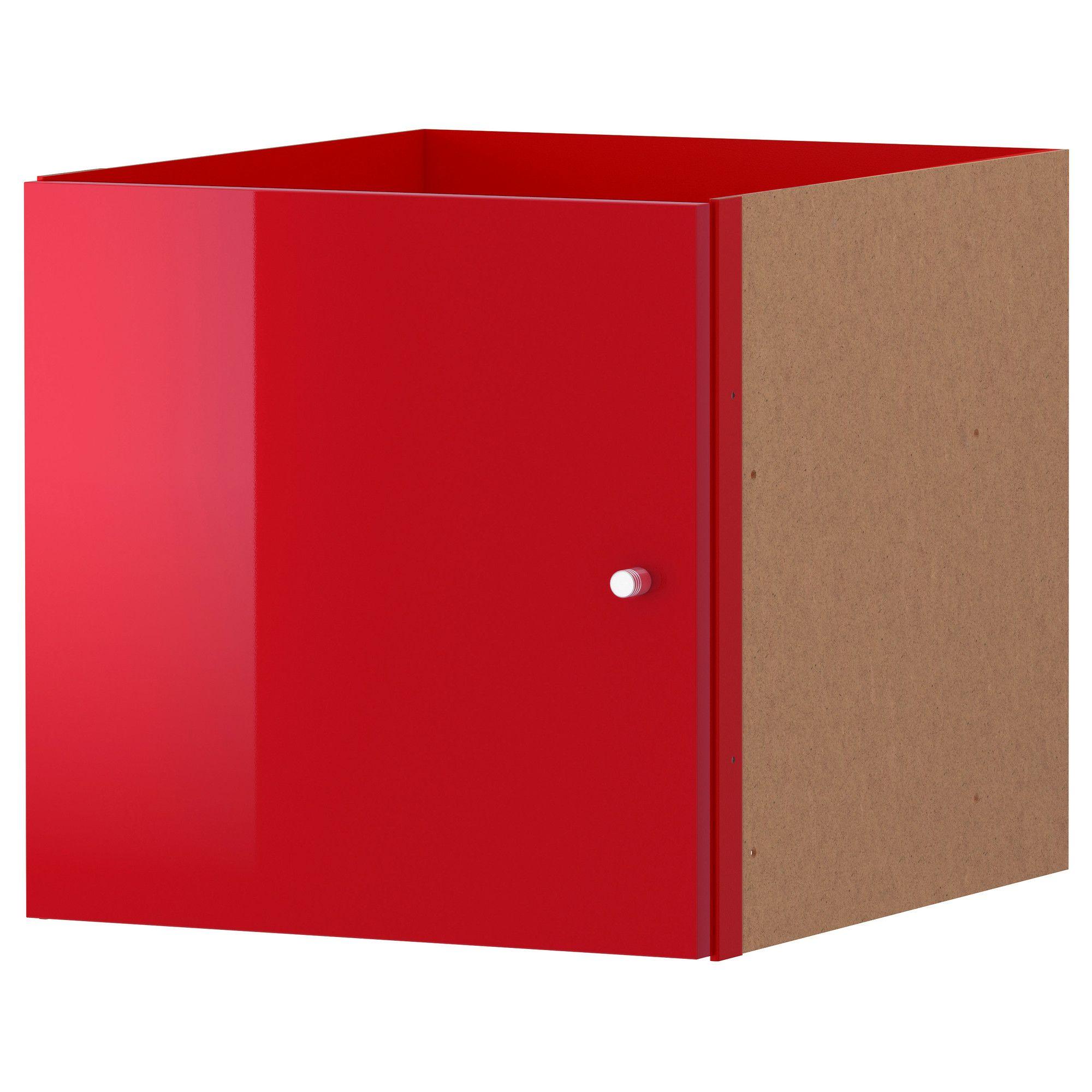 KALLAX Insert With Door - High Gloss Red - IKEA