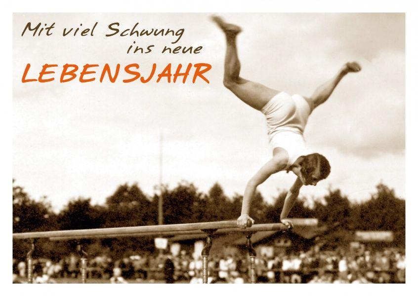 Mit Viel Schwung Ins Neue Lebensjahr Happy Birthday Echte Postkarten Online Versenden Gutsch Verlag