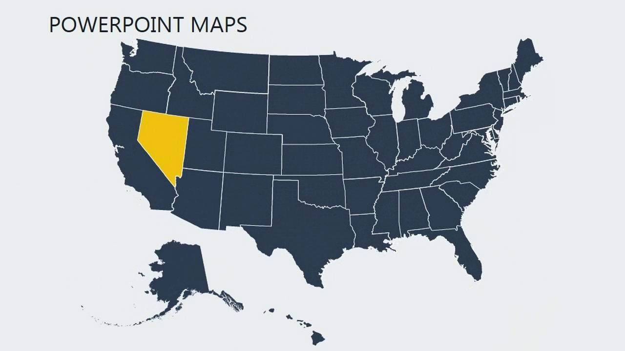 United States Of America With Counties Powerpoint Maps Map United States Of America Powerpoint Interactive us maps for powerpoint