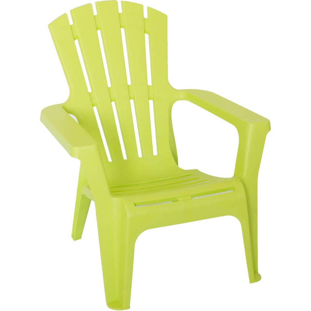Adirondack Plastic Chair Green Patio Home Furniture Wide Backrest