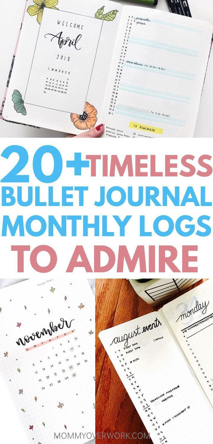 20+ TIMELESS Bullet Journal Monthly Spreads to Admire #novemberbulletjournalcover